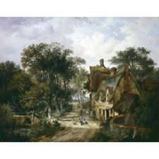 Una locanda e Cottage con bambini che giocano-J ladbrooke Print