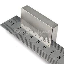 Neodymium Block Magnet N52 50 X 25 X 10mm Very Powerful NEO Magnets Mro DIY S95