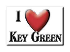 SOUVENIR UK - ENGLAND FRIDGE MAGNET UNITED KINGDOM I LOVE KEY GREEN (CHESHIRE)