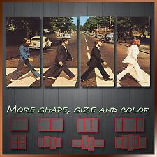 « Abbey Road de The Beatles' Moderno De Pared Moderna Art Deco Lona ~ 4 Paneles
