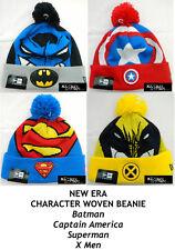 NEW ERA DC/MARVEL COMICS CHARACTER WOVEN BIGGIE BEANIE - ASSORTED