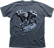 V-twin moteur moto harley indian t-shirt gris FN0209