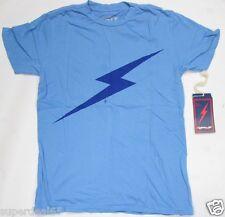 Lightning Bolt T Shirt Forever T Azure Blue 100% Cotton Retro Vintage Styled USA
