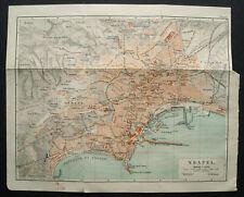 Antica Stampa Topografica.NEAPLES - NAPOLI  Citta.1902.