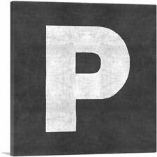ARTCANVAS Chalkboard Alphabet Letter P Canvas Art Print