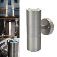 Illucio 2 x GU10 Stainless Steel Up/Down IP44 Indoor/Outdoor Garden Wall Light