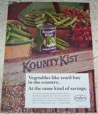 1970 vintage ad - Green Giant Kounty Kist canned vegetables PRINT AD