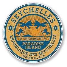 2 x 10cm Seychelles Vinyl Sticker Decal Laptop Luggage Travel Tag Gift Fun #6786