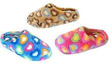 New Girls Heart Pattern House Slipper Shoe Faux Fur Warm Comfortable-309K