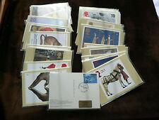 Royal Mail Phq Tampon Cartes - 1996, 1997, 1998, Fdi Arrière + Special