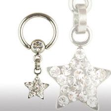 Crystal Ring Stern Epoxy beschichtet kristalle Intim Piercing Ohr Brust Piercing