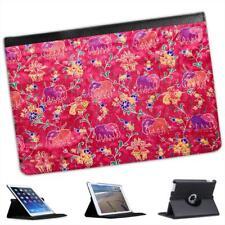 Indian Pink Elephants Folio Leather Case For iPad Mini & Retina
