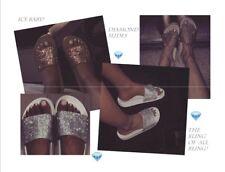 New Womens Jeweled Rhinestone Slide Open Toe Flat Sandal Shoe Flip Flops Slipper