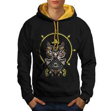 Owl Illuminati Men Contrast Hoodie NEW | Wellcoda