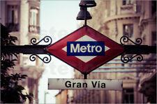 Poster Metro sign - Madrid