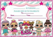 LOL BIRTHDAY PARTY INVITATIONS INVITES KIDS GIRLS CHILDRENS  2