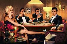 Chris Consani Four of a kind Canvas Print Marilyn Monroe Elvis James Dean Poker