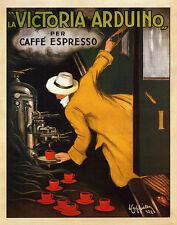 Art Print POSTER LA VICTORIA ARDUINO VINTAGE POSTER Expresso Coffee ad