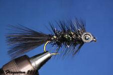 Fliegentom Streamer 3 pieces Fishmask Wooley Bugger Krystal black