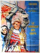 LE MIRACLE DES LOUPS Blood on His Sword Affiche Cinéma Movie Poster JEAN MARAIS
