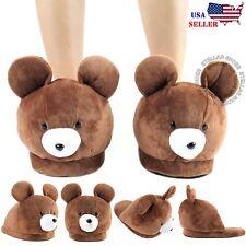 Women's Cute Warm Animal Slippers Fuzzy Women Men Teddy Bear House Slippers