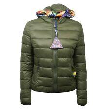 C4092 giubbotto donna SHOP ART double face floreale/verde jacket woman