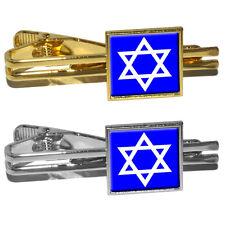 Star of David - Shield Jewish Square Tie Bar Clip Clasp Tack