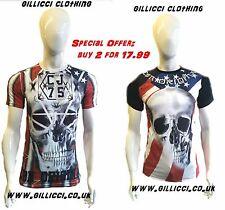 Da Uomo Teschio Stampate dinamico Fashion T-Shirt Top