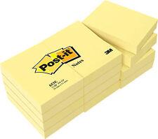 12 x 100 3M Post-it Haftnotizen notes gelb postit Klebezettel alle Größen