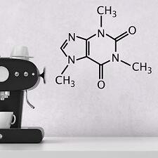 CAFFEINA molecola di Adesivi Murali-struttura chimica decalcomania della parete per cucina /...