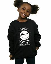 Disney Girls Nightmare Before Christmas Jack Face Sweatshirt