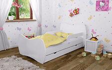 DM Kinderbett Weiss ohne Matratze Bettkasten und Lattenrost