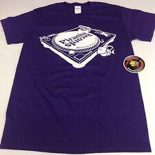 Piranha Records Turntable Purple Screen Printed Shirt S-3XL