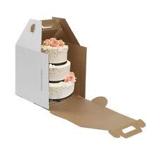 Tall White Kraft Cake Carrier Box