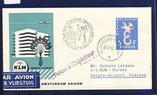 41286) Niederlande KLM FF Amsterdam - Saigon Vietnam 31.3.59 ab Belgien DVH 15€