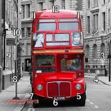 "Reloj De Pared London Bus Hecho a Mano 19.6cm 8""/28.5cm 11"""