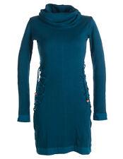 Vishes Kleid Pullover Kapuzenpullover Rollkragen warmes Kleid Hippie Elfen Larp