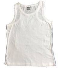 Jerzees blanc uni sport coton Muscle dos débardeur avec semelle grise /