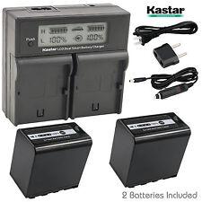 Kastar Charger Battery Panasonic AG-VBR89G AG-VBR59G AG-VBR118G AG-BRD50 AG-B23