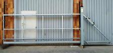 Schiebetor Hoftor freitragend E-Antrieb - SOFORT verfügbar - 4,0x1,6-1,9m R