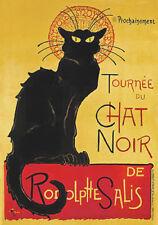 Le Chat Noir (1896) Black Cat Famous French Cabaret Troupe Vintage-Style Poster