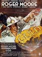 Gold Roger Moore Susannah York movie poster print