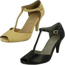femmes Spot On à talon bout ouvert 'Chaussures'