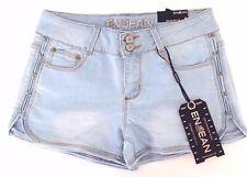EnJean Women's Light Wash Two Button Denim Jean Shorts - S,M,L