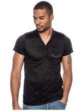 True Rock Men's Slim Fit Pocket 2 Button Casual Shirt