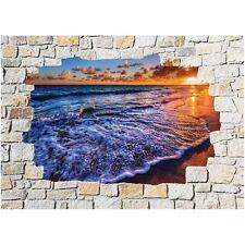 Adesivi parete inganna l'occhio pietra decocrazione Mare 8503