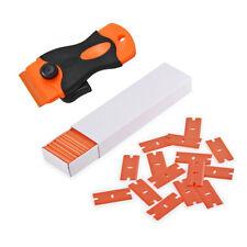Mini Razor Scraper,10/100 Pcs Plastic Double Edge Safe No Scratched Removal AU