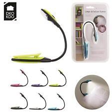 Lampe de lecture compact flexible avec pince clip pour livre idéale voyage