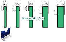 Einfassprofil U-Profil 1,5mm für Glasbrüstung ESG und VSG Glas 8 bis 21,52 mm.