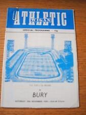 25/11/1978 Wigan Athletic v Bury [FA Cup] [1st League Season]. No obvious faults